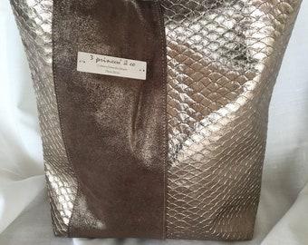 Brown and Tan shoulder bag