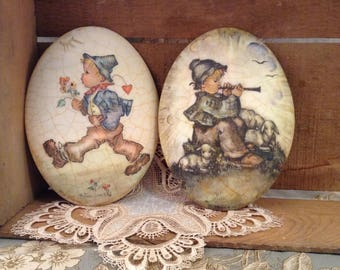 Vintage Hummel Chalkware Plaque 2 Adorable Designs To Choose From