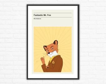 Wes Anderson, Fantastic Mr. Fox Minimalist Movie Poster