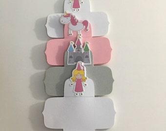 Princess square bonbon holders, candy cup, candy holder, forminhas,brigadeiros ( 24 units)