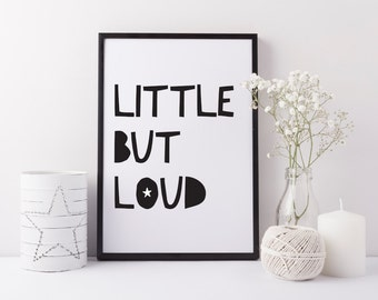 Children's print - Little but loud fun playroom art print - Boys, girls art print - Nursery print - Children's bedroom print - Fun art print