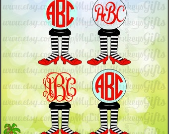 Monogram Oz Wicked Witch Monogram Base Designs Digital Clipart Instant Download Full Color SVG ES DXF Png Jpeg Files