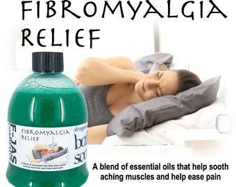 Fibromyalgia Relief BATH SOAK 450ml - with Natural Essential Oils.