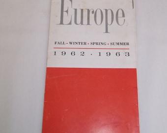 TWA Tour and Travel Catalog 1962 1963