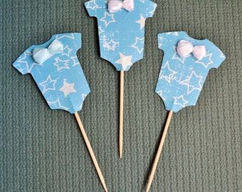 Baby - Charming Onesies Cupcake Toppers - Baby - Set of 12