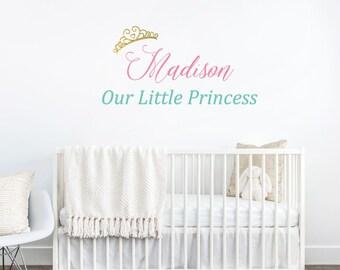 Princess Decor - Princess Name Decal - Girls Nursery Ideas - Our Link Princess - Princess Name - Princess Decal - Little Girls Room Decor