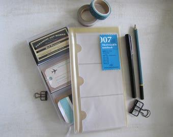 Genuine Traveler's Notebook (007) CARD FILE-12 POCKETS-Midori- Regular Size, Traveler's Notebook, Travel Journal