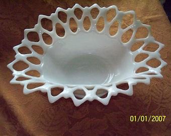 Westmoreland Doric Lace Milkglass Dish
