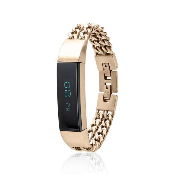 Bracelet NOE - Chain Bracelet made for Fitbit Alta -Alta HR- 18K GOLD plated -  stainless steel