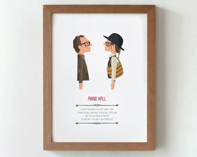 """Ilustración """"Annie Hall"""". Basada en la película de Woody Allen."""