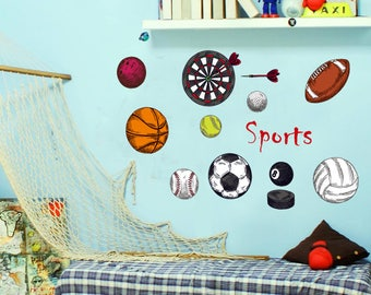 Sports Wall Decal Etsy - Sporting wall decals