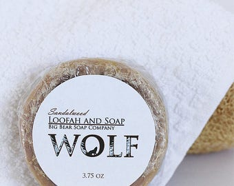 Wolf Sandalwood Loofah and Soap 4 ozs.