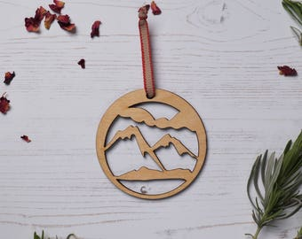 Wooden mountain Decoration 1, home decor, Holiday ornament, wood decoration, birch plywood, FREE P&P!