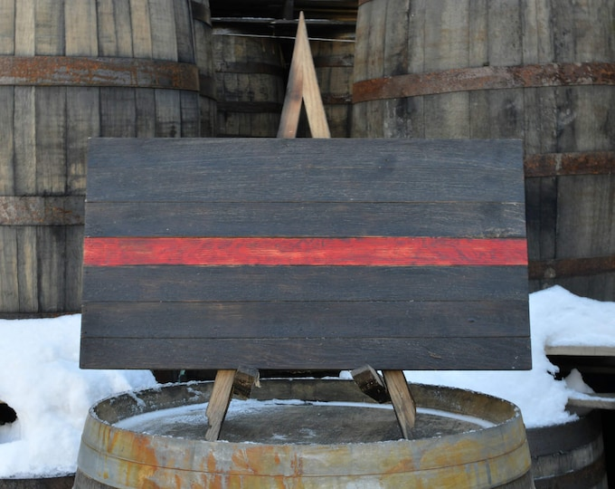Thin Red Line Support Series Whiskey Barrel Flag - Proceeds Donated