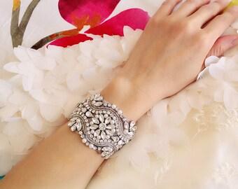 Bridal wrist corsage crystal rhinestone bridal wrist corsage