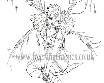 Set of 2 Fairy Colouring Sheets - Instant Download