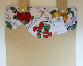 Copriforno, oven cover, Copriforno fruit, Copriforno beige, cotton Copriforno, decoration for the kitchen