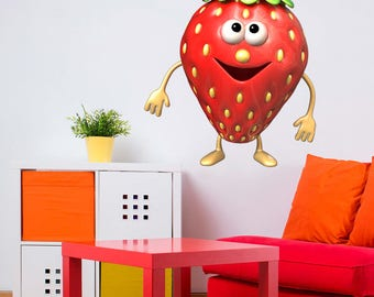 Wall decals fruit  strawberry A241 - Stickers fruit fraise A241