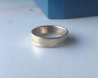 FREE SHIPPING Israel Coin Ring (5 sheqalim)