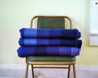 Indigo Blue Alpaca Throw Blanket