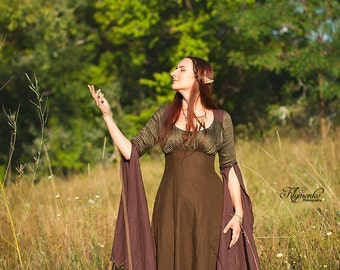 Wood elves costume elven dress medieval reneissance gown