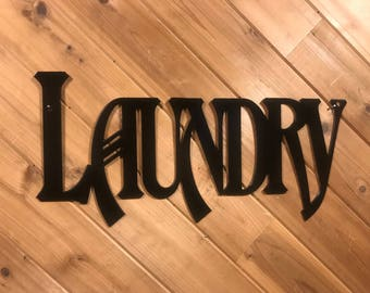 Laundry - Metal Wall Words - Metal Wall Art By PrecisionCut