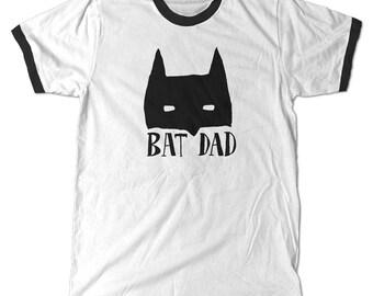 Batdad Ringer T-Shirt, Bat dad tee, Batman dad's father's day shirt