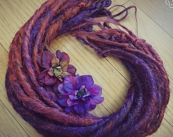 Fairy Dreads Set Auburn and Purple
