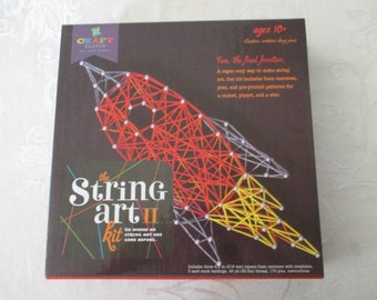 String Art Kit, Rocket, Planet, and A Star String Art Kit, The String Art II Kit, Go Where No String Art Has Gone Before Kit, 3 Designs Kit