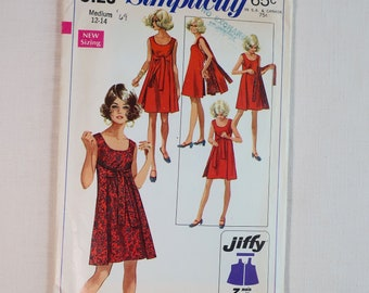 Vintage Simplicity Sewing Pattern 8125, 1960s, Wrap Dress, Reversible Dress, Size Medium, Bust 34-36