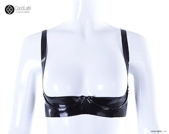 Victoria 1/2 Cup Latex Bra - Ready To Ship