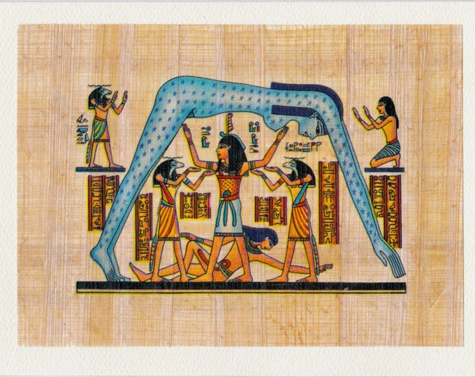 NEW! Night Sky Egyptian Papyrus Notecard! Beautiful, unique design. Suitable for framing. Gifts for women, friends, birthdays!