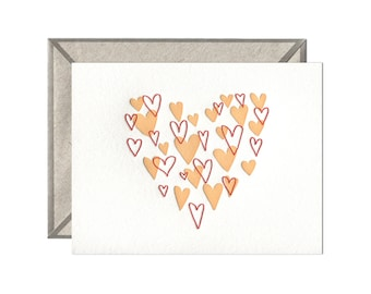 Heart of Hearts letterpress card - single