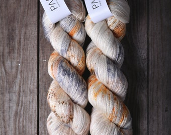 Hand Dyed Papiput Silky Merino Lace Yarn - Sparklers