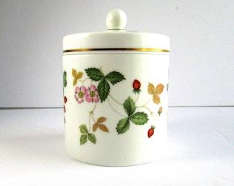 Wild Strawberry, Lidded jar, Wedgwood, Bone China, England, Vintage
