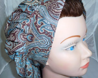 Bouffant Surgical Scrub Hat Paisley