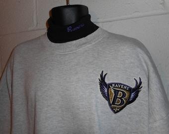 Vintage 90s Majestic Baltimore Ravens Turtleneck Sweatshirt 3XL XXXL