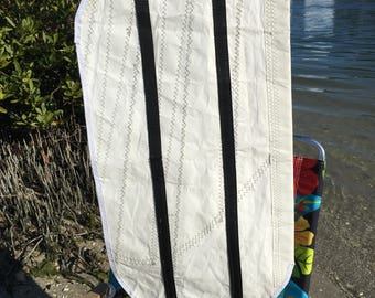 Sail Cloth Log Carrier from Recycled Sail, one of a kind
