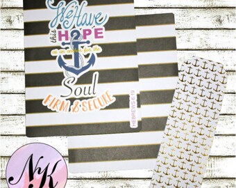 Planner Cover Anchor, Anchor, Hebrew 6:19, Planner Cover, inspiration print, Framable art, use with Erin Condren Planner(TM), Happy Planner