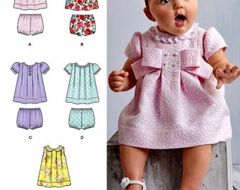 Babies' Dress and Panties Pattern, Sz Nb to 18mo, Simplicity Sewing Pattern 8346