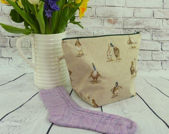 Puddle Duck Knitting/Cochet Project Bag