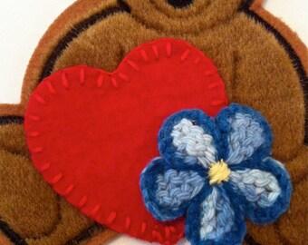 Kaylee Heart & Flower Patch Set - BEAR SOLD SEPARATELY