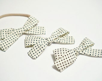 Polka Dot Eleanor Headband or Clip