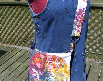 Bag has shoulder strap, ready to ship, adjustable strap and zipper, a gift to offer or afford!