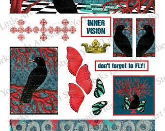 Don't Forget to Fly Digital Download 2 Sheets