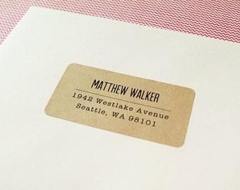 Custom Printed Return Address Labels - Design #03, Minimalist Text Address Labels