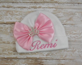 Personalized, custom, embroidered, baby beanie hat, hospital hat, newborn, baby, beanie, cap, infant, photo prop, take home, bring home