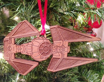 Star Wars TIE Interceptor Wooden Ornament
