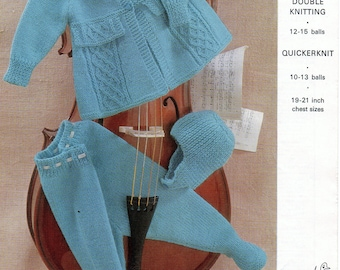 PDF Emu 8407, Vintage Baby Bootee Knitting Pattern, Double Knitting, Quicker Knit, 8 styles, Instant Download 1-6 months