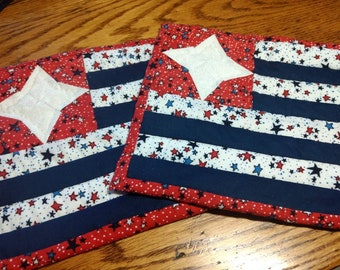 Pair of 4th of July/Summer potholders.